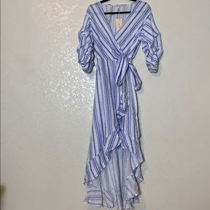 Brand New White and blue striped dress